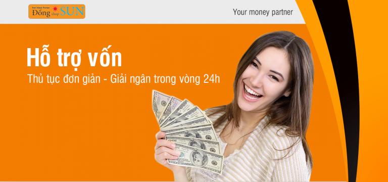 Đồng Shop Sun hỗ trợ vay chỉ 0.85%. Vay theo cavet xe, vay theo hóa đơn mua ĐT