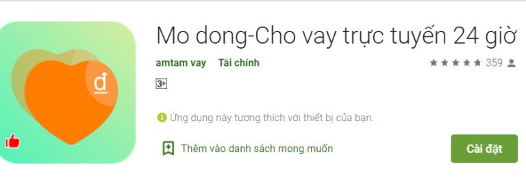 Modong (H5 Mo-dong) – Vay online đơn giản, nhận tiền nhanh