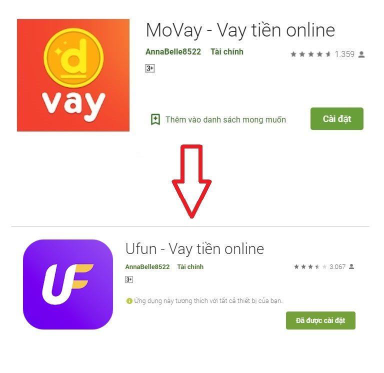 Movay (Ufun) – Vay tiền online chỉ cần CMND
